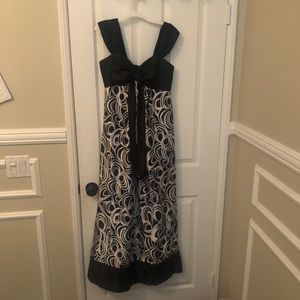 Modest Prom or formal dress black and white
